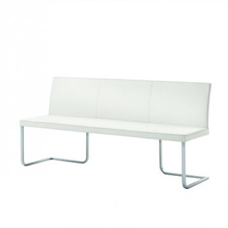 stretto luxury upholstered dining bench curved backrest team7 furniture. Black Bedroom Furniture Sets. Home Design Ideas