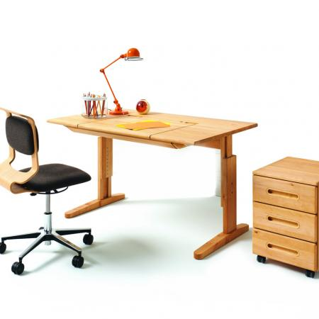 mobile solid wood child desk and swivel chair team7 furniture